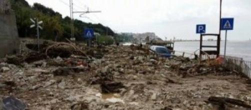 Genova, i disastri dell'alluvione.