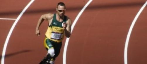 Oscar Pistorius en una carrera.