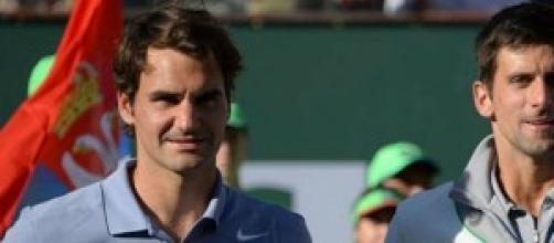 Roger e Novak in campo per un posto in finale
