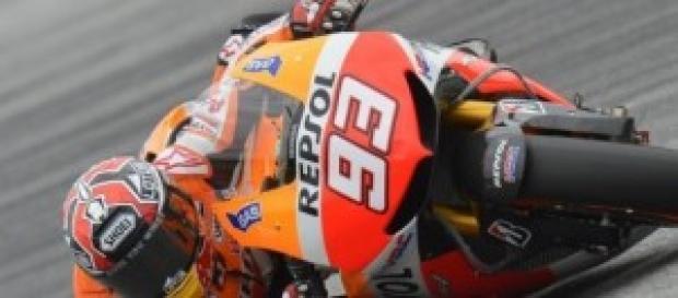 Márc Márquez pilotando su Honda