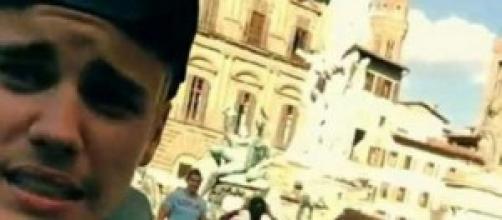 Selfie de Justin Bieber en Italia.