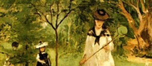 La caza de mariposas, Morisot