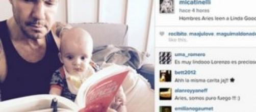 Padre e hijo, juntos leyendo