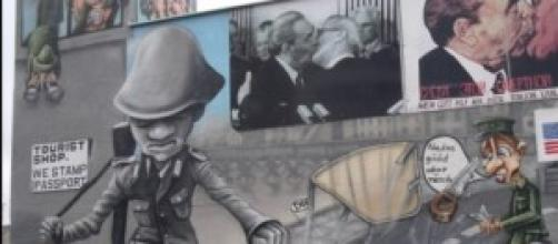 Un graffiti en el Muro de Berlín