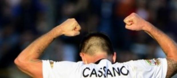 l'attaccante barese Antonio Cassano