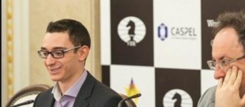 Fabiano Caruana e Boris Gelfand a Baku 2014