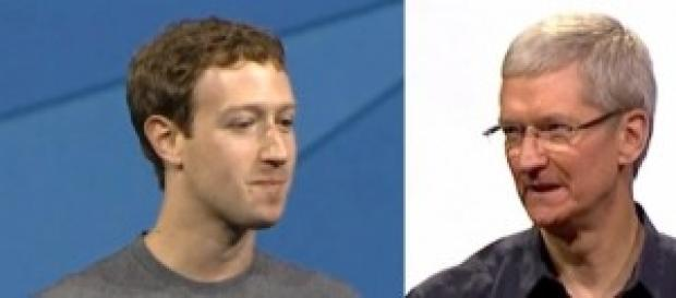 Mark Zuckerberg, Facebook. Tim Cook, Apple.