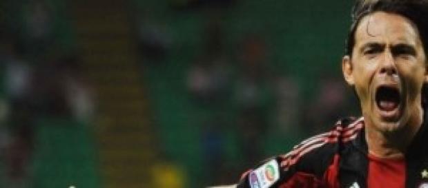 Pippo Inzaghi quando giocava