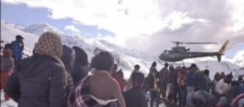 I primi soccorsi sull'Annapurna