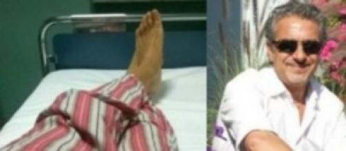 Silvano Saitta ricoverato in ospedale