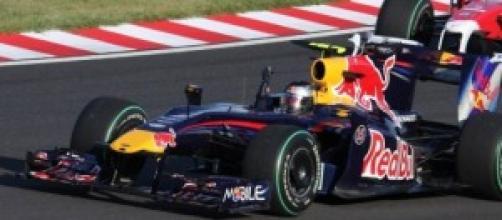 Sebastian Vettel en el Red Bull.