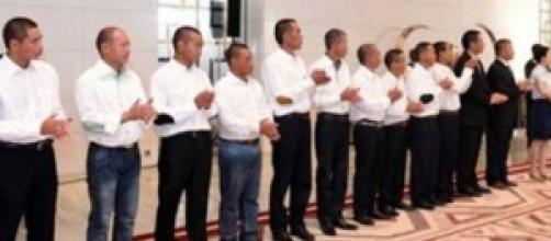 ex-otages chinois au Palais de l'unité