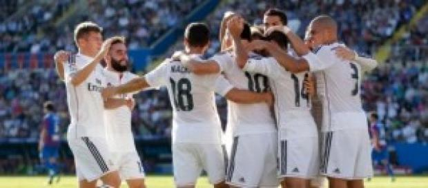 El Madrid celebra un gol. Foto: Real Madrid
