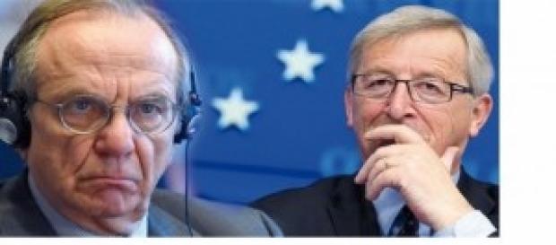 Pier Carlo Padoan e Oli Rehn