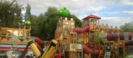 Parque de Angry Birds perfectamente ambientado.