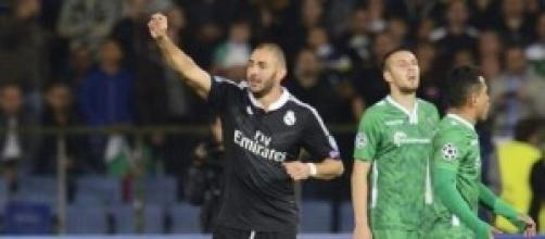 Benzema, autor del segundo gol