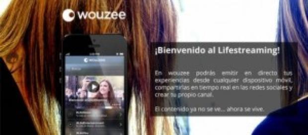 Wouzee aplicación que transmite tu vida en directo