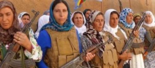 Donne curde a Kobane, Siria