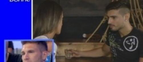 Fabio e Teresa in una scena vista dallo studio.