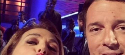 Barbara D'Urso una vera fans  di Matteo Renzi