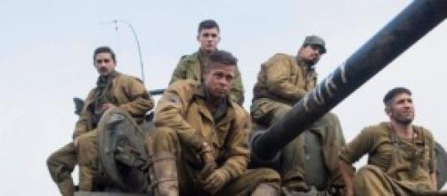 """Brad Pitt en su última película """"Fury"""""""