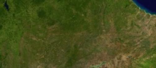 Vista aérea do Nordeste Brasileiro