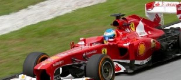 Fernando Alonso en su Ferrari.
