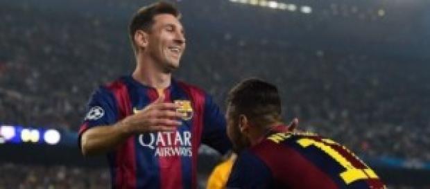 Messi y Neymar celebran un gol. Foto: As