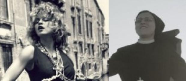 Sor Cristina imita a Madonna en su primer single.
