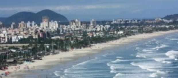 A bela Praia da Enseada em Guarujá