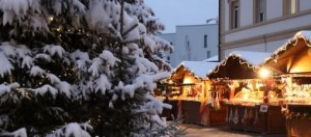 Vista del mercatino di Natale di Brunico