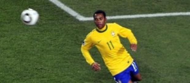 Jogador Robinho, do Santos