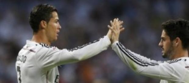 Los madridistas celebran goles y triunfos