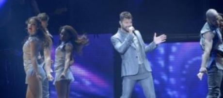 Imagen del fabuloso show de Ricky Martin