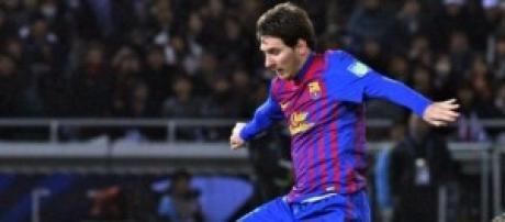Lionel Messi en un partido.