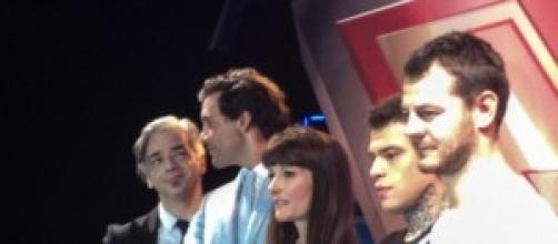 i giudici di X Factor posano per le fotografie