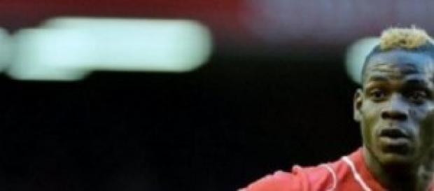 L'attaccante del Liverpool Mario Balotelli