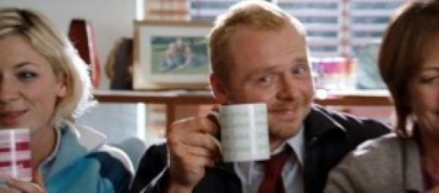 """Una imagen de Simon Pegg en """"Shaun of the dead"""""""