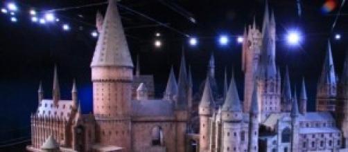 Maqueta de la escuela Hogwarts.