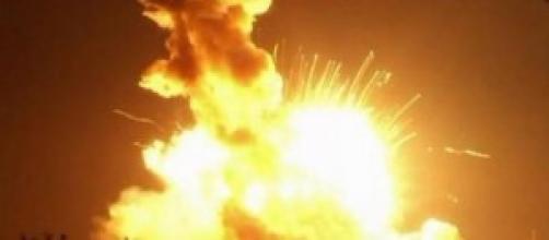 Momento de la explosión del cohete Antares