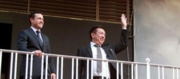 Peter Lim y Amadeo Salvo en el palco