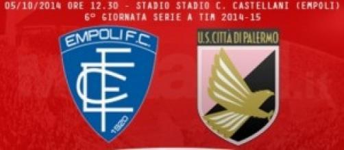 Empoli-Palermo, lunch match di domenica 5