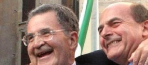 PierLuigi Bersani con Romano Prodi