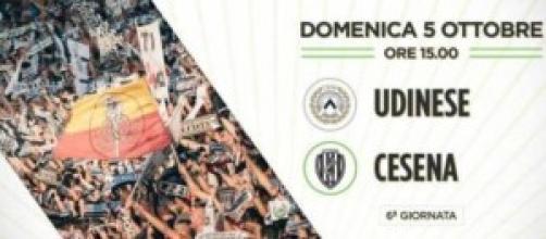 Udinese-Cesena, 5 ottobre alle 15:00