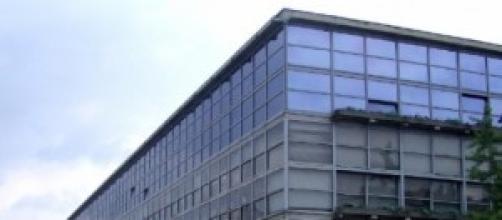 Vista della fabbrica Olivetti ad Ivrea
