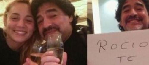 Rocío Oliva y Diego Armando Maradona