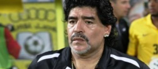 Maradona ataca a su novia Rocío.