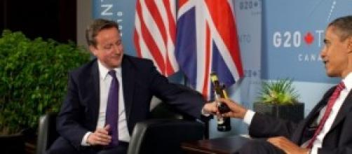 David Cameron y Barack Obama.