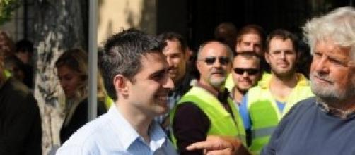 Beppe Grillo col sindaco di Parma, Pizzarotti