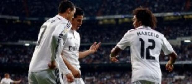 Baile de goles en el Bernabéu. Foto:realmadrid.com